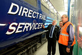 DG198183. The minister inspects RVELs new paint shop. Derby. 13.10.14.