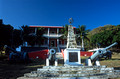 T14127. Remedios Town Hall and cannons. Fernando de Noronha. Brazil. 20.8.02