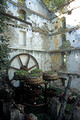 T14250. Derelict pasta factory. Stenies. Andros. Cyclades. Greece. 25.9.02