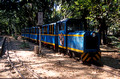 T6567. Toy train in botanical gardens. Pondicherry. Tamil Nadu India. 27th January 1998