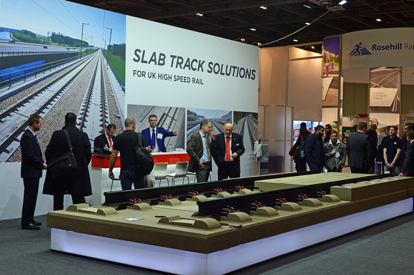 DG242572. HS Slab track on display. Infrarail 2016. 12.4.16