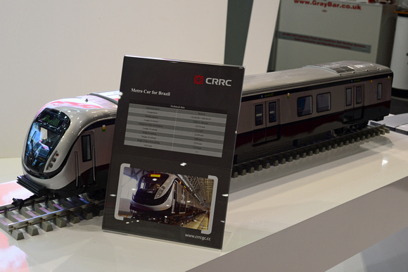 DG242554. Models on the CRRC stand. Infrarail 2016. 12.4.16