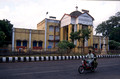 T6575. Exterior of the railway station. Pondicherry. Tamil Nadu India. 28th January 1998
