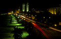 17258. Looking down at Galle face green at night from the Galle Face Hotel. Colombo. Sri Lanka. 11.01.04