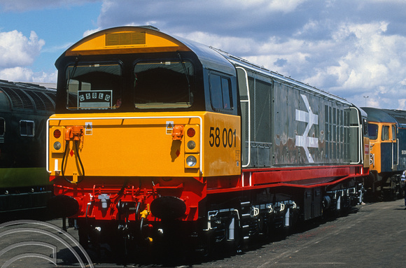 12544. 58001 on display. Open day. Doncaster works. 26.7.03