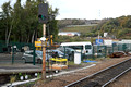 DG284798. New signal base clear of the trackbed. Halifax. 16.10.17