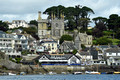DG279577. The town seen from the ferry. Fowey. 19.8.17