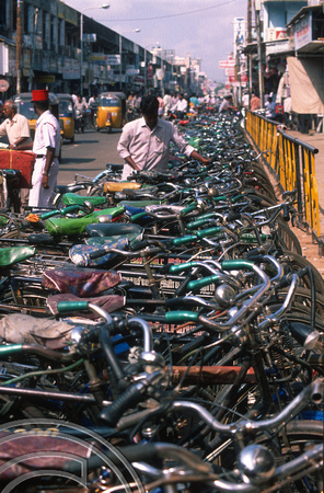 T6596. Bicycle park. Pondicherry. Tamil Nadu India. 29th January 1998