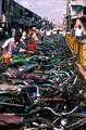 T6597. Bicycle park. Pondicherry. Tamil Nadu India. 29th January 1998