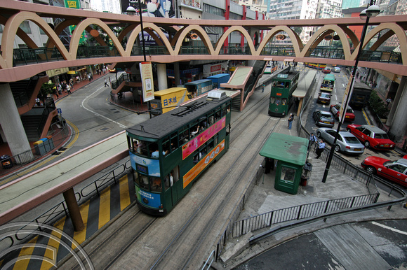 FDG1518. Trams 96 & 82. Paterson St. Hong Kong. 2.11.04.