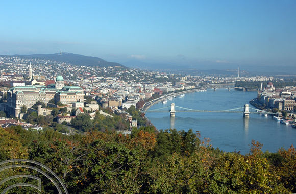 TD00213. The view from Castle Hill. Budapest. Hungary. 30.9.04.